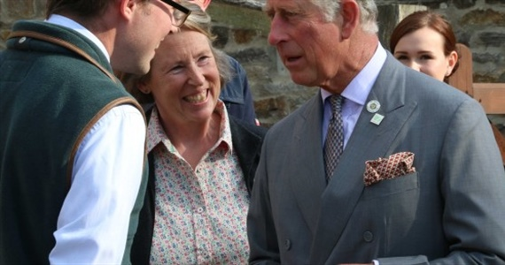 WELCOMING PRINCE CHARLES AT BERRY'S